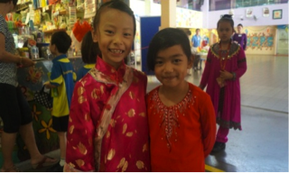 Yangzhengnites all dressed up for Racial Harmony Day Commemoration