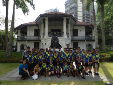 NE Ambassadors on their learning journey at Sun Yat Sen Ville (Nanyang Memorial Hall)